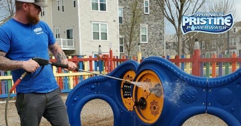Shane disinfects coronavirus on playground