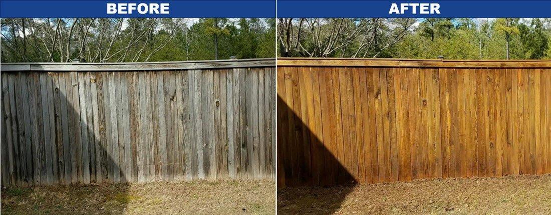 fence pressure washing