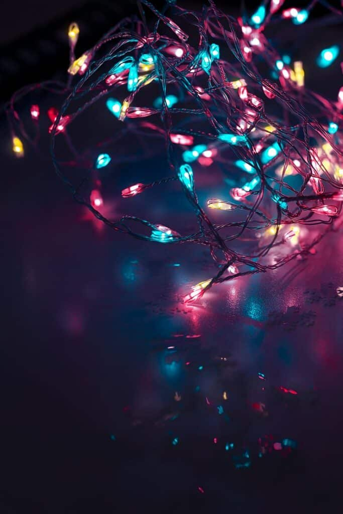 Party lights background